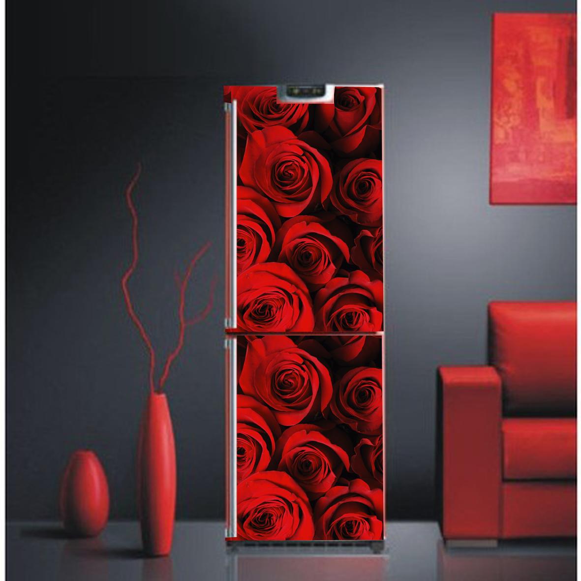 dekorfolie k chenfolie m belfolie k hlschrankfolie rote rosen gr e l ebay. Black Bedroom Furniture Sets. Home Design Ideas